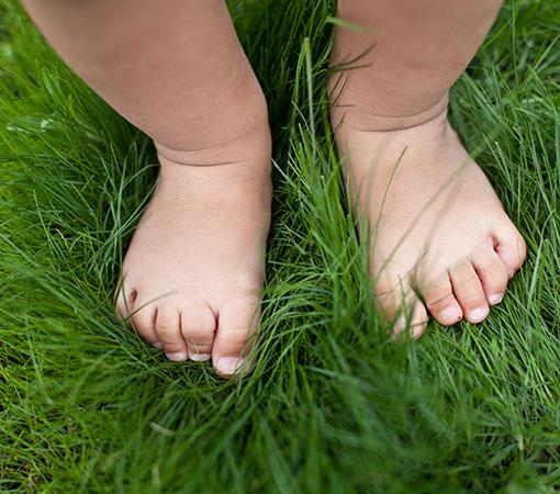 Healthy kids feet
