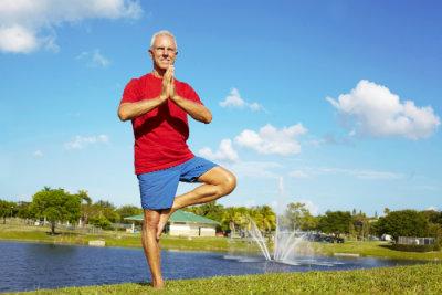 older gentleman yoga